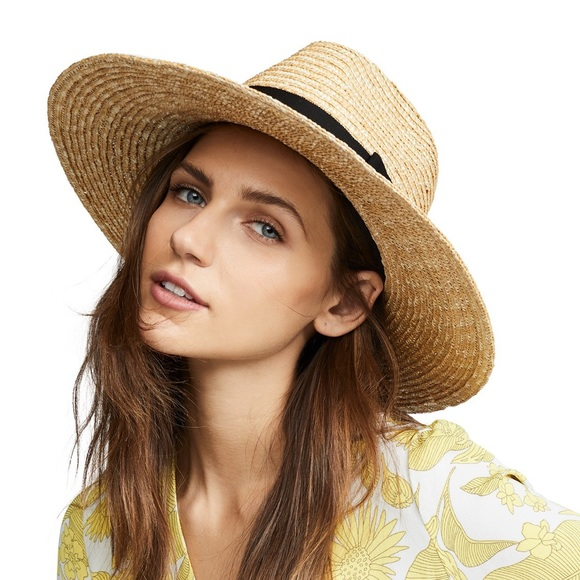 d2b2020329dd8 NWTs BRIXTON •  Joanna  Straw Honey Hat